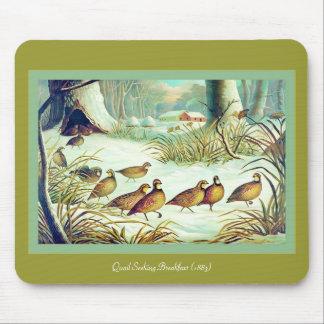 Quail Seeking Breakfast 1883 Mousepads