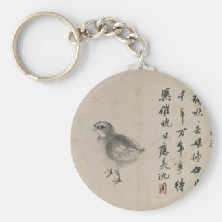Quail (Sketches from Life) by Shen Zhou Basic Round Button Keychain
