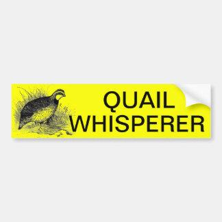 QUAIL WHISPERER BUMPER STICKER