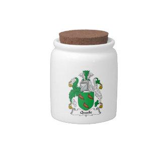 Quaile Family Crest Candy Jars