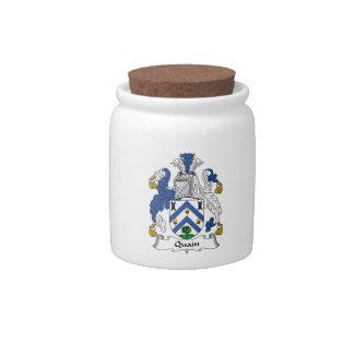 Quain Family Crest Candy Jars
