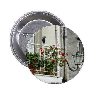 Quaint Balcony In Old Town Corfu flowers Pin