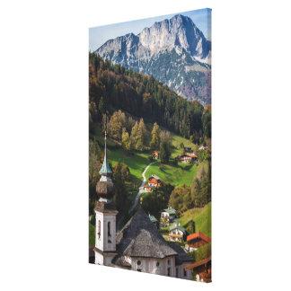 Quaint bavarian village, Germany Canvas Print