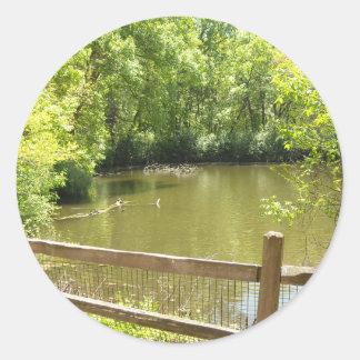 quaint bridge classic round sticker