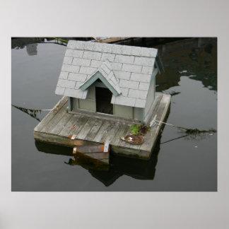 Quaint Duckling Boat House Print