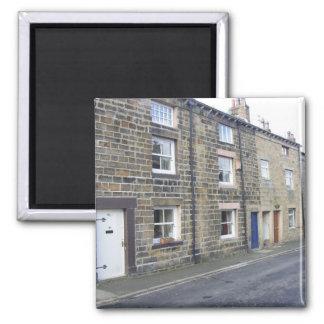 Quaint English Cottages 2 Inch Square Magnet