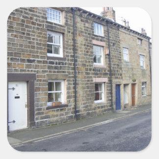 Quaint English Cottages Square Sticker