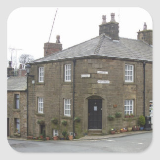 Quaint English Village Square Sticker