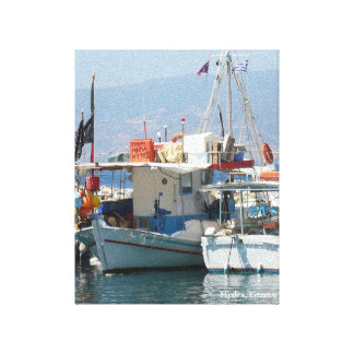 Quaint Grecian Harbor_Style 1 Canvas Print