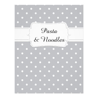 Quaint Grey Dot Pattern Recipe Divider Letterhead