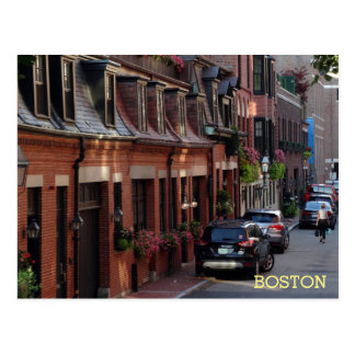 Quaint Homes Back Bay Boston Street Postcard