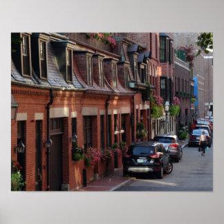 Quaint Homes Back Bay Boston Street Poster