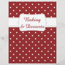 Quaint Maroon Dot Pattern Recipe Divider