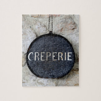 Quaint Old Crepe Pan on Wall in Annecy, France Jigsaw Puzzle