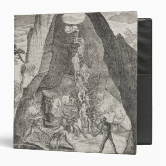 Quaint Picture of the Toilers in Mines of Vinyl Binder