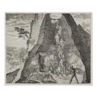 Quaint Picture of the Toilers in Mines of Poster