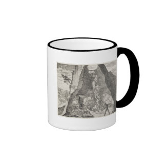 Quaint Picture of the Toilers in Mines of Ringer Mug