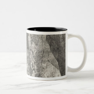 Quaint Picture of the Toilers in Mines of Two-Tone Coffee Mug