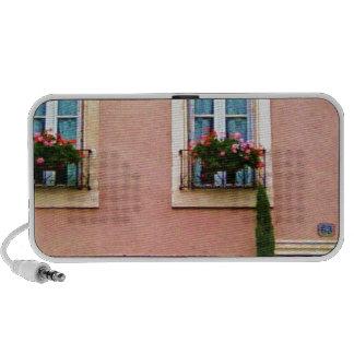 Quaint Pink French Windows Notebook Speaker