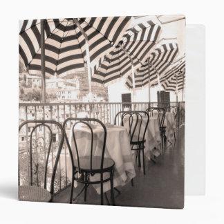 Quaint restaurant balcony, Italy 3 Ring Binder