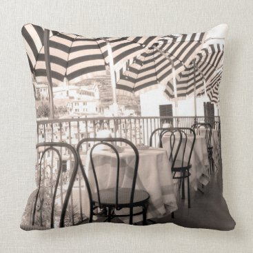 Professional Business Quaint restaurant balcony, Italy Throw Pillow