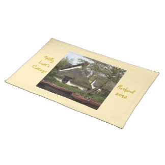 Quaint Thatched Cottage of Willie Lott, Flatford Cloth Placemat