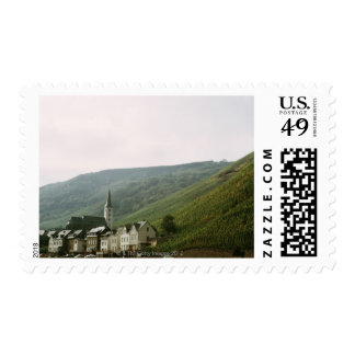 Quaint town of Moselles in Italy Postage