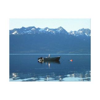 Quaint Unmanned Fishing Boat Canvas Print