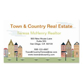 Quaint Village Street Real Estate Business Cards