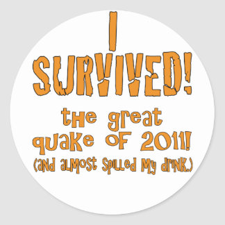 quake classic round sticker