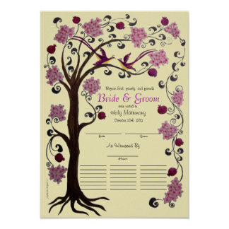 Quaker 21 guest  Wedding - Tree of Life (rbi) Poster