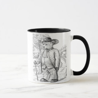 Quaker Bear - Letter Q - Vintage Teddy Bear Mug