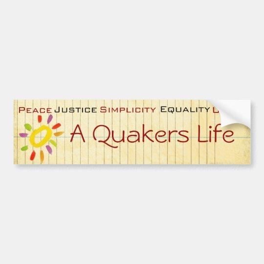 Quaker bumper sticker