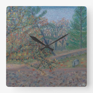 Quaker Cemetery - Waterford VA Square Wall Clock