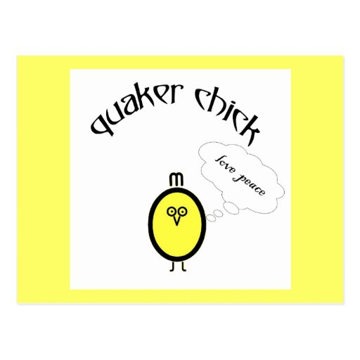 Quaker Chick - Love, peace Postcard