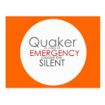 Quaker Emergency Postcard
