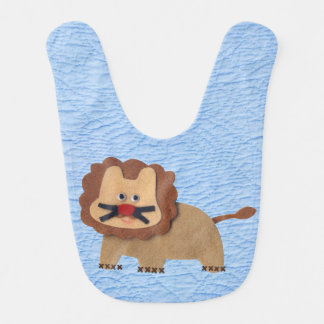 Quaker faux quilt felt lion Baby Bibs