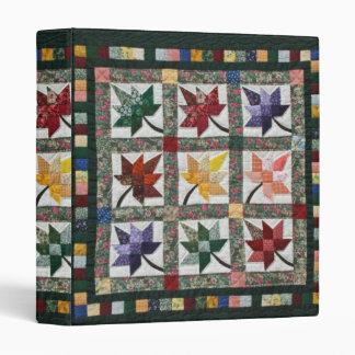 Quaker faux quilt note book binder