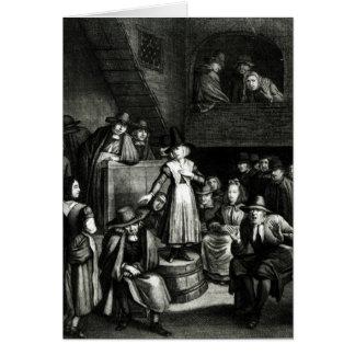 Quaker Meeting, 1699 Card