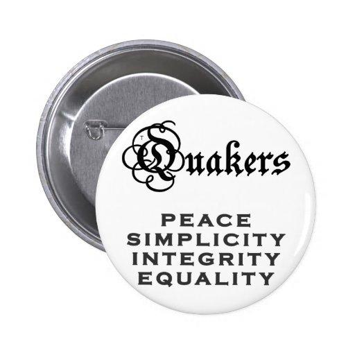 Quaker Motto Buttons