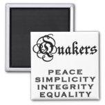 Quaker Motto Refrigerator Magnets