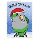 Quaker Parakeet Happy Holidays Christmas Card