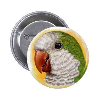 Quaker parrot realistic painting button