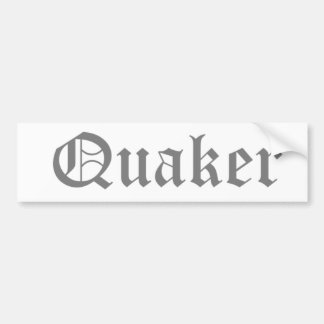 Quaker Pegatina De Parachoque