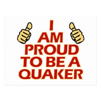 Quaker religious designs postcard