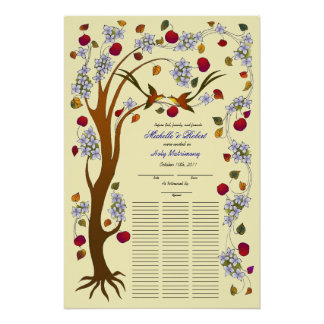 Quaker Tree of Life in Fall, 75 guests Poster
