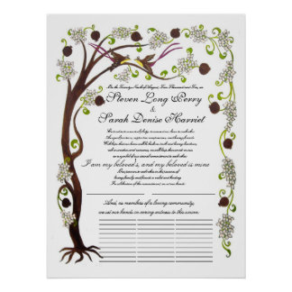 Quaker Wedding, Tree of life-Spring Poster