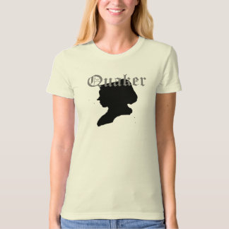 Quaker woman in Silhouette T-shirts