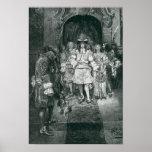 Quaker y rey en Whitehall Póster