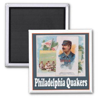 Quakers de Philadelphia Imán Cuadrado